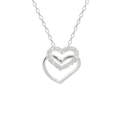Sunstone Double Heart Pendant