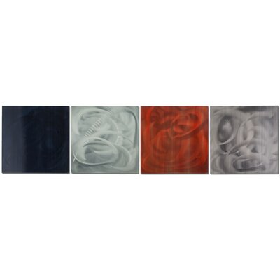 Metal Art Studio Sophistication 4 Piece Graphic Art Plaque Set