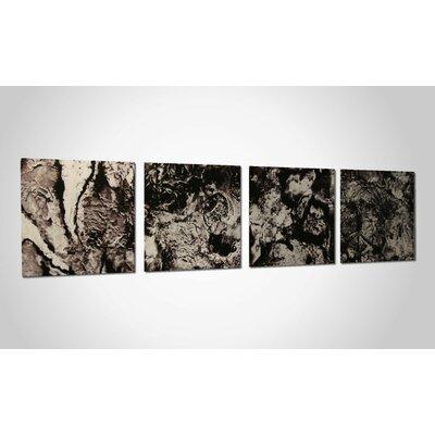 Metal Art Studio Cyber Space 4 Piece Graphic Art Plaque Set