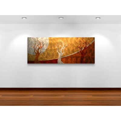 Metal Art Studio Golden Seasons Wall Art