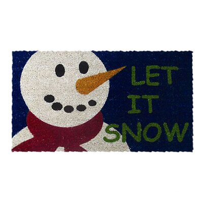 Let it Snow Handwoven Coconut Fiber Doormat