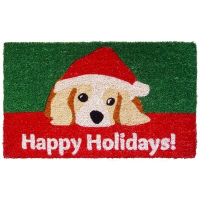 Handmade Dog Lovers Holiday Doormat