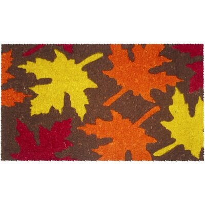 Entryways Maple Leaves Handwoven  Coconut Fiber Doormat