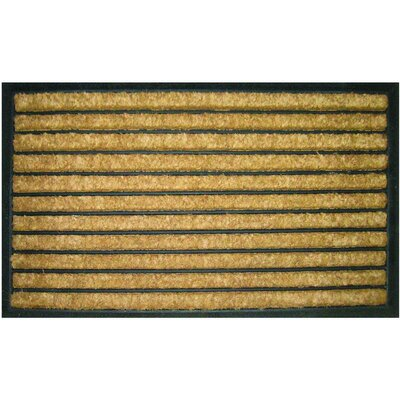 Entryways Bootscraper - Recycled Rubber and Coir Striped Doormat