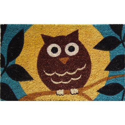 Entryways Wise Owl Handwoven Coconut Fiber Doormat