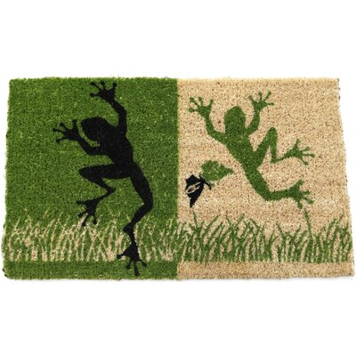 Handmade Dancing Frogs Doormat