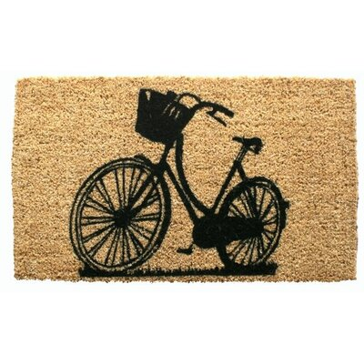 Entryways Bike Handwoven Coconut Fiber Doormat