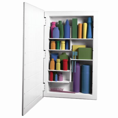 "Zaca Spacecab Media 16"" x 26"" Recessed Medicine Cabinet"