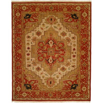 Wildon Home ® Ivory / Red Rug