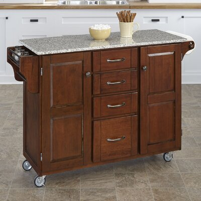 Create A Cart Kitchen Island With Granite Top Reviews Wayfair