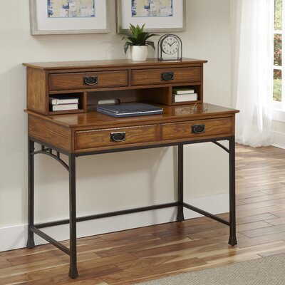 Home styles modern craftsman writing desk with hutch reviews wayfair - Hutch style computer desk ...