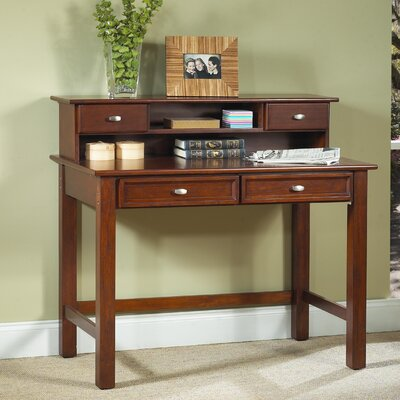 Home Styles Hanover Student Desk and Hutch Set with 2 Drawers on Desk
