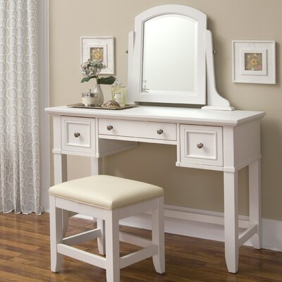 Home Styles Naples Vanity Table in White