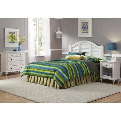 Home Styles Bermuda Queen Headboard, Nightstand, and Chest