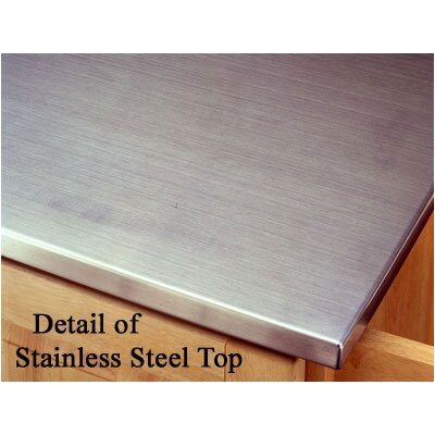 Home Styles Kitchen Cart Stainless Steel Top