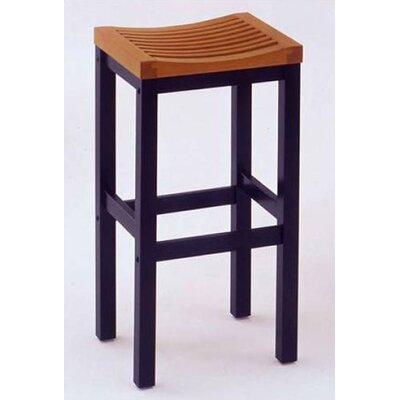 "Home Styles 24"" Counter Stool in Black and Cottage Oak"