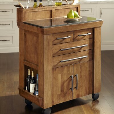 Home Styles Vintage Gourmet Kitchen Cart | Wayfair