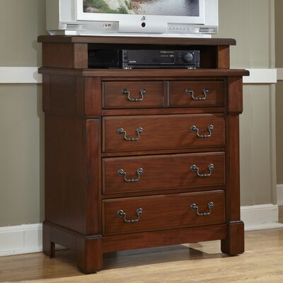 Home Styles Aspen 4 Drawer Media Chest