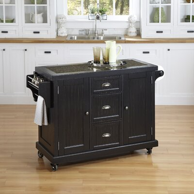 Nantucket Kitchen Cart with Granite Top