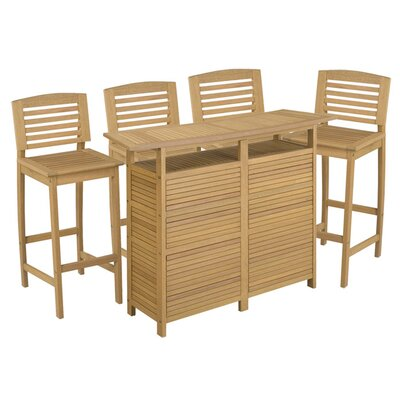 Home Styles Bali Hai 5 Piece Bar Set