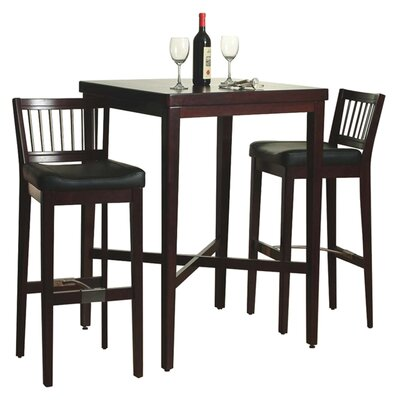 Home Styles 3 Piece Pub Table Set in Cherry Finish