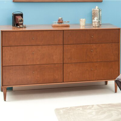 Urbangreen Midcentury 6 Drawer Dresser