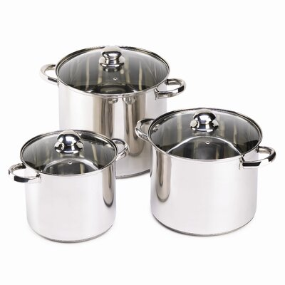 Zingz & Thingz Lidden Stockpot with Lid (3 Pieces)