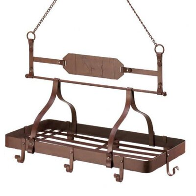 Cow Emblem Kitchen Hanging Pot Rack