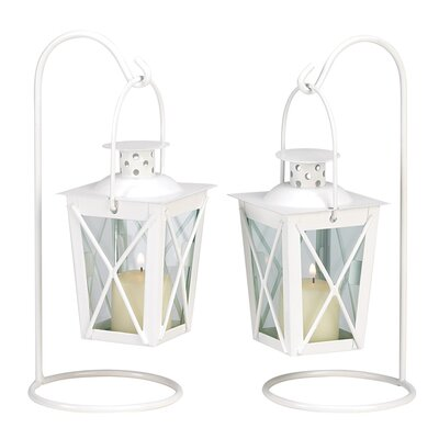 Zingz & Thingz Modern Style Iron and Glass Lanterns | Wayfair