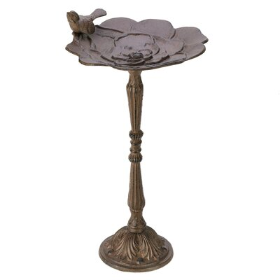 Zingz & Thingz Blooming Rose Birdbath