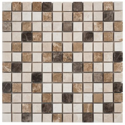 Faber Blend Mesh-Mounted Marble Mosaic