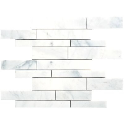 Carrara Extra Marble Mosaic Random Strip Polished 16