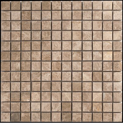 Faber Emperador Light Marble Mosaic Polished Tile in Beige and Brown