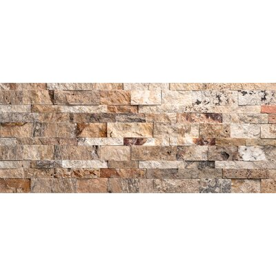 Faber nebula travertine split face random sized wall for Split face travertine kitchen backsplash