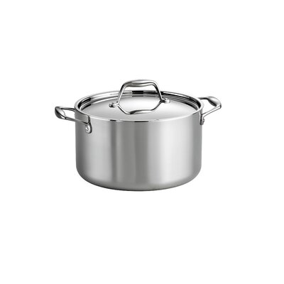 Tramontina Gourmet Premium Stainless Steel Stock Pot with Lid