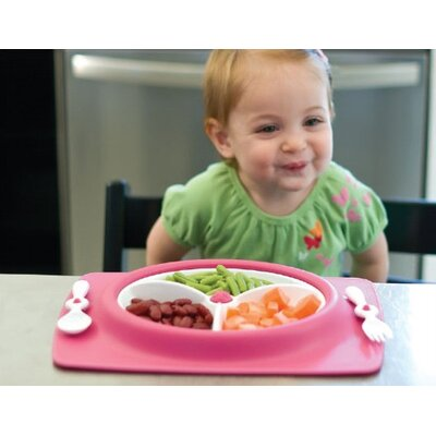 Skip Hop Mate Stay-Put Place Mat and Plate in Orange