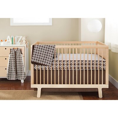 Skip Hop Lattice Bumper Free 4 Pieces Crib Bedding Set in Chocolate