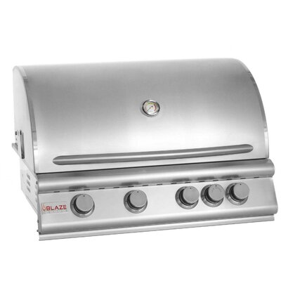"Blaze Grills 32"" 4-Burner Built-In Gas Grill with Rear Infrared Burner"