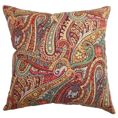 <strong>The Pillow Collection</strong> Wanda Paisley Cotton Pillow