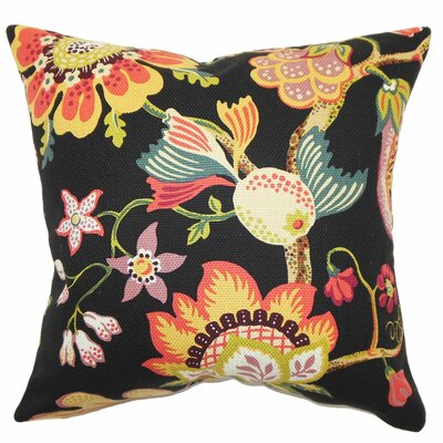 Calla Floral Cotton Pillow