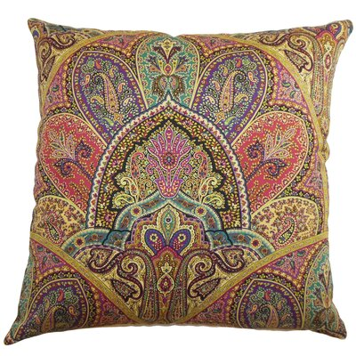 The Pillow Collection La Ceiba Paisley Cotton Pillow