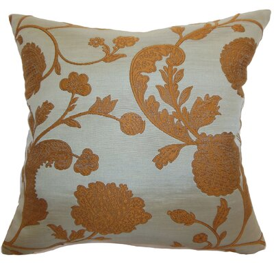 The Pillow Collection Passa Floral Silk / Cotton Pillow