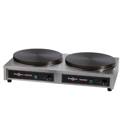 Double 220V Electric Cast Iron Crepe Griddle