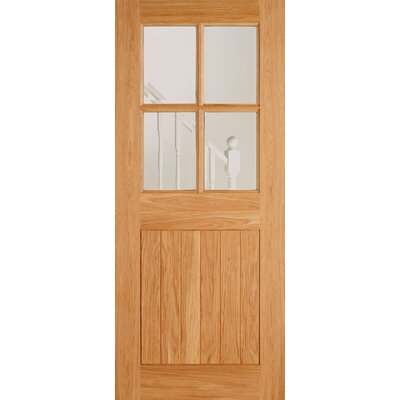 Cottage Oak 4 Panel Double Glazed Exterior Door Wayfair Uk