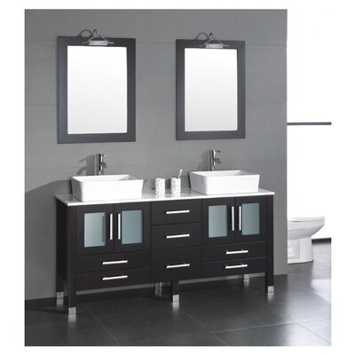 "<strong>Cambridge Plumbing</strong> Grand Aspen 71"" Bathroom Vanity Set"