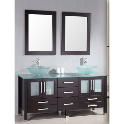 "Cambridge Plumbing Emerald 64"" Double Bathroom Vanity Set"
