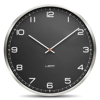 "Leff Amsterdam One45 17.7"" Glass Wall Clock"