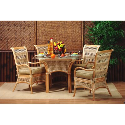 Spice Islands Wicker 5 Piece Dining Set