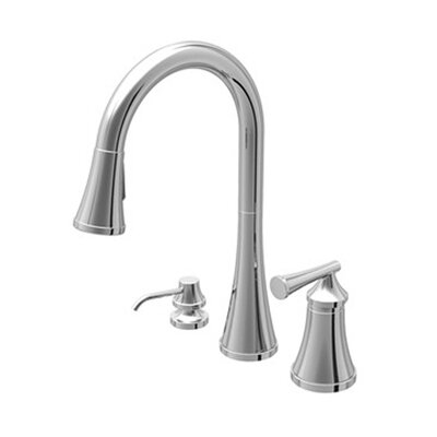 Lena Single Handle Widespread Kitchen Faucet with Pull Down Spray