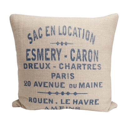 Provence Home Collection Hampton Classic French Words Pillow
